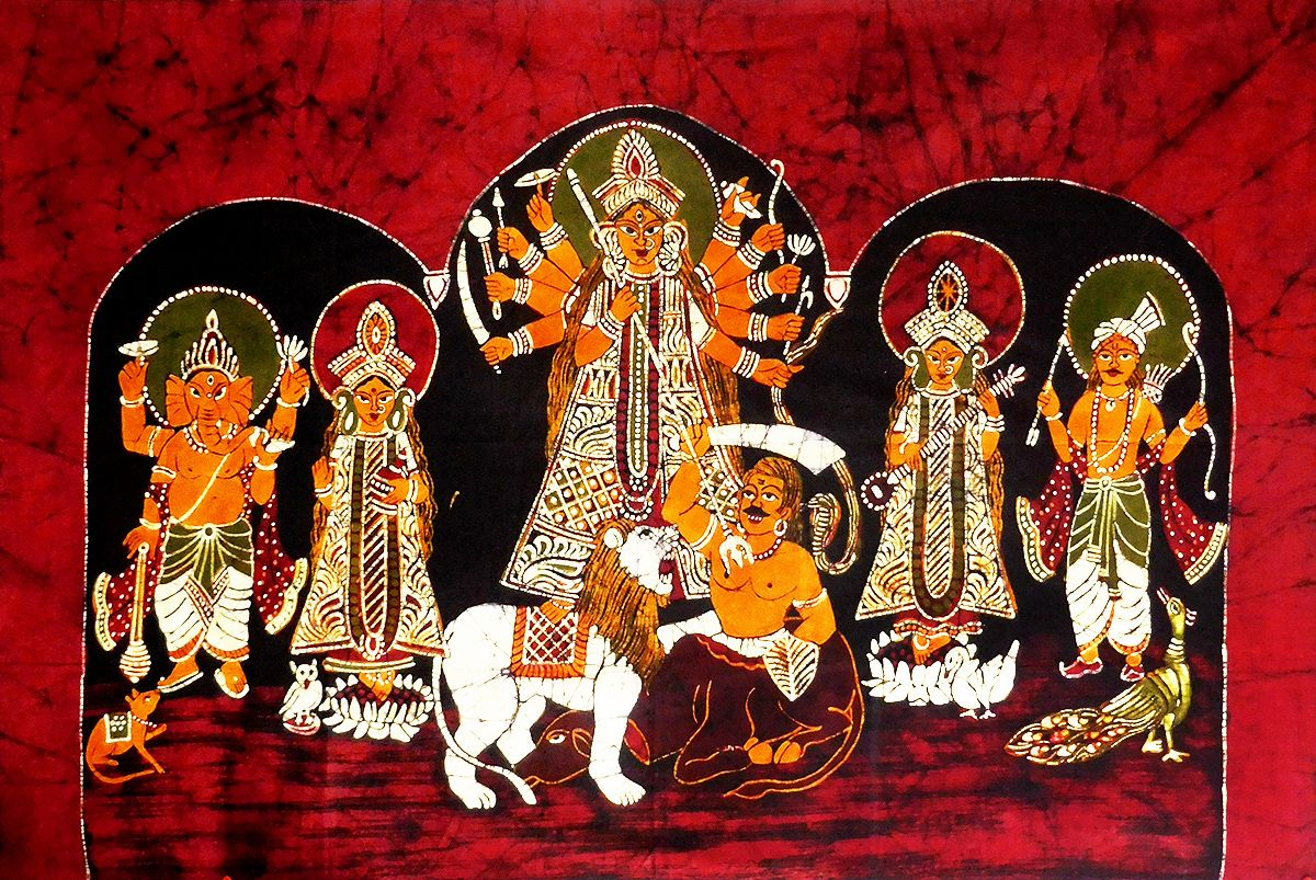 Durga and her children (Source: Dolls of India)