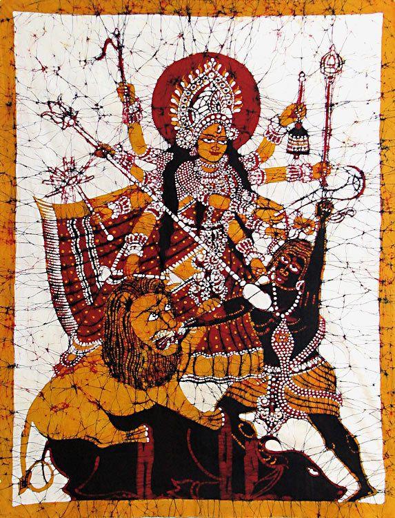 Durga defeats Mahishasura (Source: Dolls of India)
