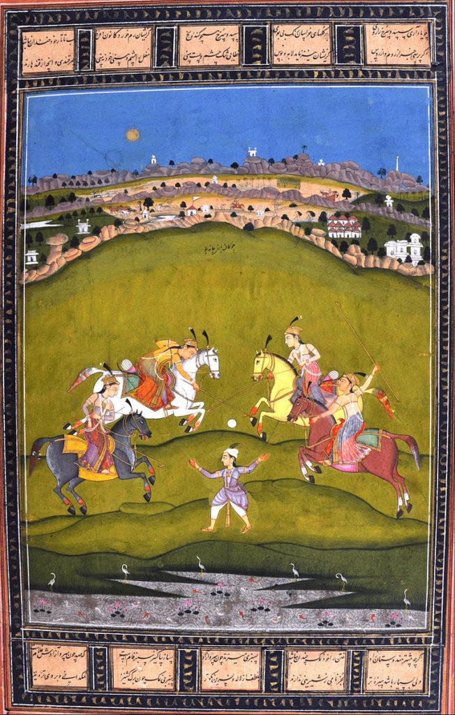 Chand Bibi playing Polo