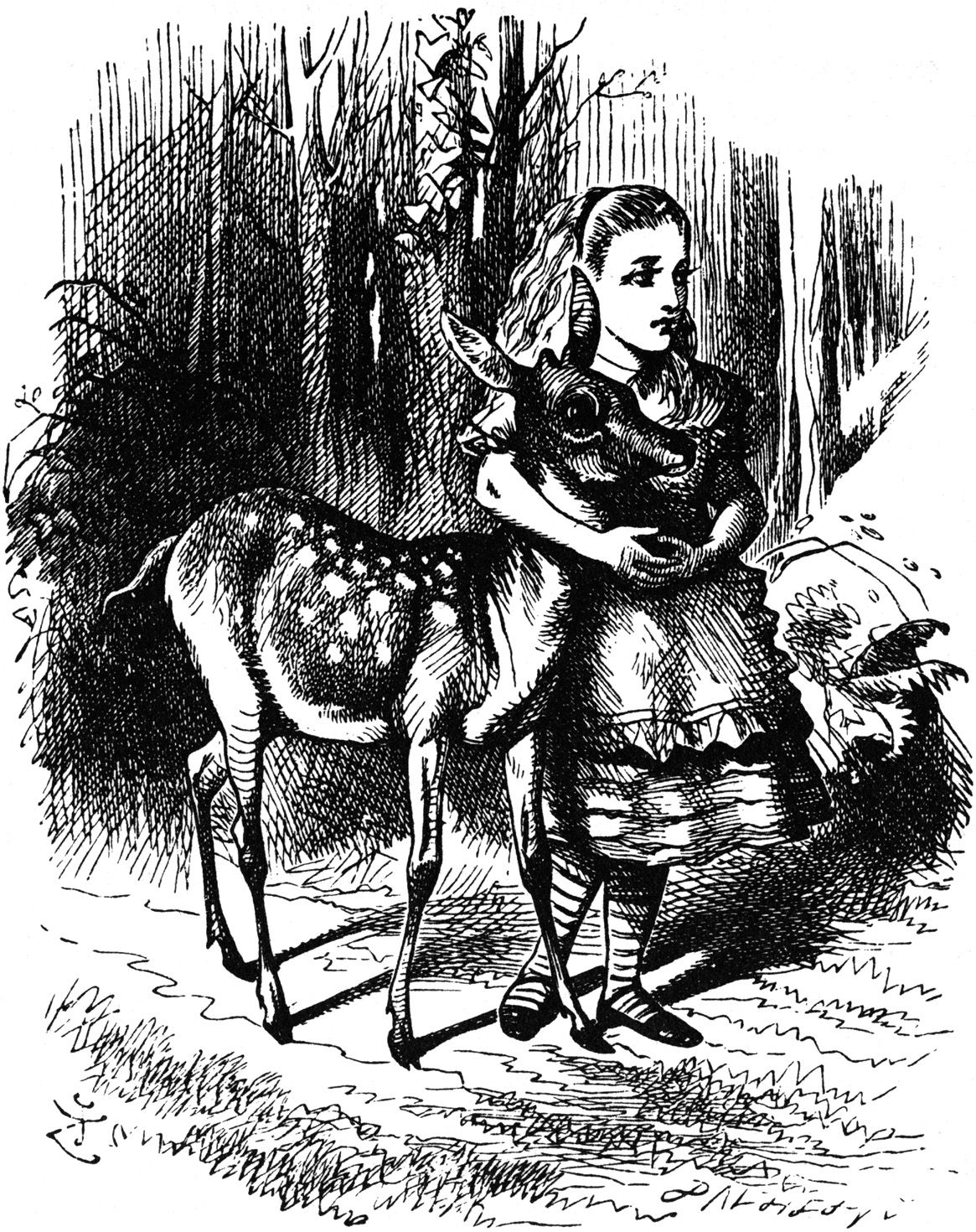 Illustration from Through The Looking Glass, by Lewis Carroll